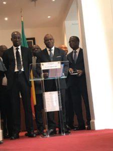 Ministres béninois Paris